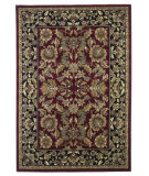 RugStudio presents Kas Cambridge Kashan Red/Black 7301 Machine Woven, Good Quality Area Rug