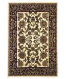 RugStudio presents Kas Cambridge Kashan Ivory/Red 7303 Machine Woven, Good Quality Area Rug