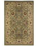 RugStudio presents Kas Cambridge Kashan Green/Taupe 7304 Machine Woven, Good Quality Area Rug