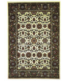 RugStudio presents Kas Cambridge Floral Agra Ivory/Green7307 Machine Woven, Good Quality Area Rug