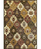 RugStudio presents Kas Cambridge 7353 Green/Plum Machine Woven, Good Quality Area Rug