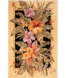 RugStudio presents Kas Catalina Orchids Paradise 755 Black Hand-Tufted, Good Quality Area Rug