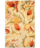 RugStudio presents Kas Catalina Calla Lillies 758 Ivory Hand-Tufted, Good Quality Area Rug