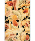 RugStudio presents Kas Catalina Calla Lillies 759 Black Hand-Tufted, Good Quality Area Rug