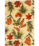 RugStudio presents Kas Catalina Tropical Flora 780 Ivory Hand-Tufted, Good Quality Area Rug