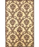 RugStudio presents Rugstudio Famous Maker 39743 Ivory-Mocha Hand-Tufted, Good Quality Area Rug