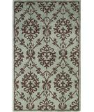 RugStudio presents KAS Chateau Sofia 3624 Wedgewood-Mocha Hand-Tufted, Good Quality Area Rug