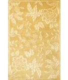RugStudio presents KAS Chateau Tropica 3635 Gold-Ivory Hand-Tufted, Good Quality Area Rug