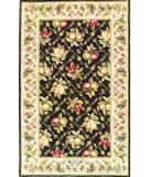 RugStudio presents Kas Colonial Summer Fruits Black Ivory 1749 Hand-Hooked Area Rug