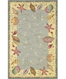 RugStudio presents Kas Colonial Ocean Suprise Blue-Ivory 1804 Hand-Hooked Area Rug