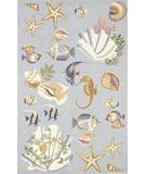 RugStudio presents Kas Colonial Ocean Life Light Blue 1805 Hand-Hooked Area Rug