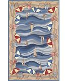 RugStudio presents Kas Colonial On the Beach Multi 1809 Hand-Hooked Area Rug