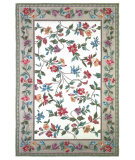 RugStudio presents Kas Colonial Floral Vine Ivory 1707 Hand-Hooked Area Rug