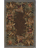 RugStudio presents Kas Colonial Jungle Black 1720 Hand-Hooked Area Rug