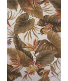 RugStudio presents Kas Colonial Tropical Paradise Ivory 1737 Hand-Hooked Area Rug