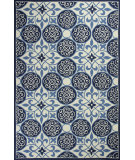 RugStudio presents Kas Colonial 1822 Ivory / Blue Hand-Hooked Area Rug