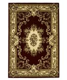 RugStudio presents KAS Corinthian Aubusson Red-Ivory 5308 Machine Woven, Good Quality Area Rug