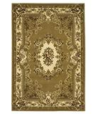 RugStudio presents KAS Corinthian Aubusson Beige-Ivory 5309 Machine Woven, Good Quality Area Rug