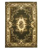 RugStudio presents KAS Corinthian Aubusson Green-Ivory 5312 Machine Woven, Good Quality Area Rug