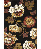 RugStudio presents Kas Corinthian 5351 Black Machine Woven, Good Quality Area Rug