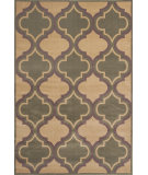 RugStudio presents KAS Corinthian 5357 Beige/Sage Quatrefoil Machine Woven, Good Quality Area Rug