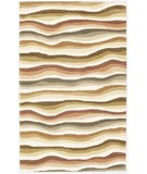 RugStudio presents KAS Cosmopolitan Waves 1501 Earthtones Hand-Tufted, Good Quality Area Rug
