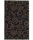 RugStudio presents KAS Cosmopolitan Ribbon Curls 1508 Taupe Black Hand-Tufted, Good Quality Area Rug