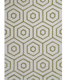 RugStudio presents KAS Dimensions 903 Ivory/Lime Concentro Hand-Tufted, Good Quality Area Rug