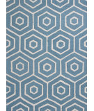 RugStudio presents KAS Dimensions 904 Turquoise Concentro Hand-Tufted, Good Quality Area Rug