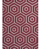RugStudio presents KAS Dimensions 905 Red Concentro Hand-Tufted, Good Quality Area Rug