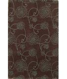 RugStudio presents Kas Emerald Flora Chocolate 9037 Hand-Tufted, Best Quality Area Rug