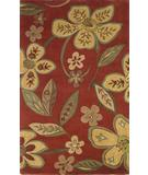 RugStudio presents Kas Emerald Quincy Floral Brick-Beige 9061 Hand-Tufted, Best Quality Area Rug