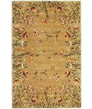 RugStudio presents Kas Emerald Tulip Garden Gold 9080 Hand-Tufted, Best Quality Area Rug