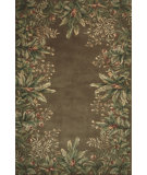 RugStudio presents Kas Emerald Tropical Border Taupe 9000 Hand-Tufted, Best Quality Area Rug