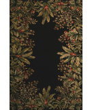 RugStudio presents Kas Emerald Tropical Border Black 9001 Hand-Tufted, Best Quality Area Rug