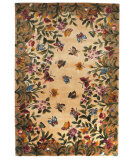 RugStudio presents Kas Emerald Butterfly Garden 9019 Antique Beige Hand-Tufted, Best Quality Area Rug