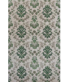 RugStudio presents KAS Emerald 9038 Ivory/Green Damask Hand-Tufted, Good Quality Area Rug