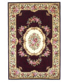RugStudio presents Kas Emerald Savonnerie 9069 Burgundy Hand-Tufted, Best Quality Area Rug