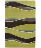 RugStudio presents Kas Eternity Landscapes Lime-Mocha 1084 Hand-Tufted, Good Quality Area Rug