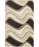RugStudio presents Kas Eternity Waves Mocha-Ivory 1086 Hand-Tufted, Good Quality Area Rug