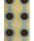 RugStudio presents Kas Eternity 1090 Light Blue/Citron Hand-Tufted, Good Quality Area Rug