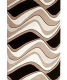 RugStudio presents Kas Eternity Waves Black/Beige 1071 Hand-Tufted, Good Quality Area Rug