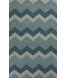 RugStudio presents KAS Eternity 1078 Ocean Chevron Hand-Tufted, Good Quality Area Rug