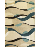 RugStudio presents Kas Eternity 1093 Ivory/Blue Hand-Tufted, Good Quality Area Rug