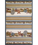 RugStudio presents Kas Fairfax 5506 Ivory/Blue Hand-Hooked Area Rug