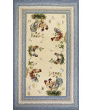 RugStudio presents Kas Fairfax 5508 Ivory/Blue Hand-Hooked Area Rug