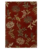 RugStudio presents KAS Florence Floral Red 4562 Hand-Tufted, Better Quality Area Rug
