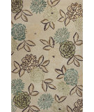 RugStudio presents Kas Florence 4567 Sand / Green Hand-Tufted, Good Quality Area Rug
