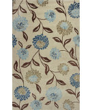 RugStudio presents Kas Florence 4579 Beige / Blue Hand-Tufted, Good Quality Area Rug