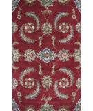 RugStudio presents KAS Florence 4587 Ruby Allover Mahal Hand-Tufted, Good Quality Area Rug